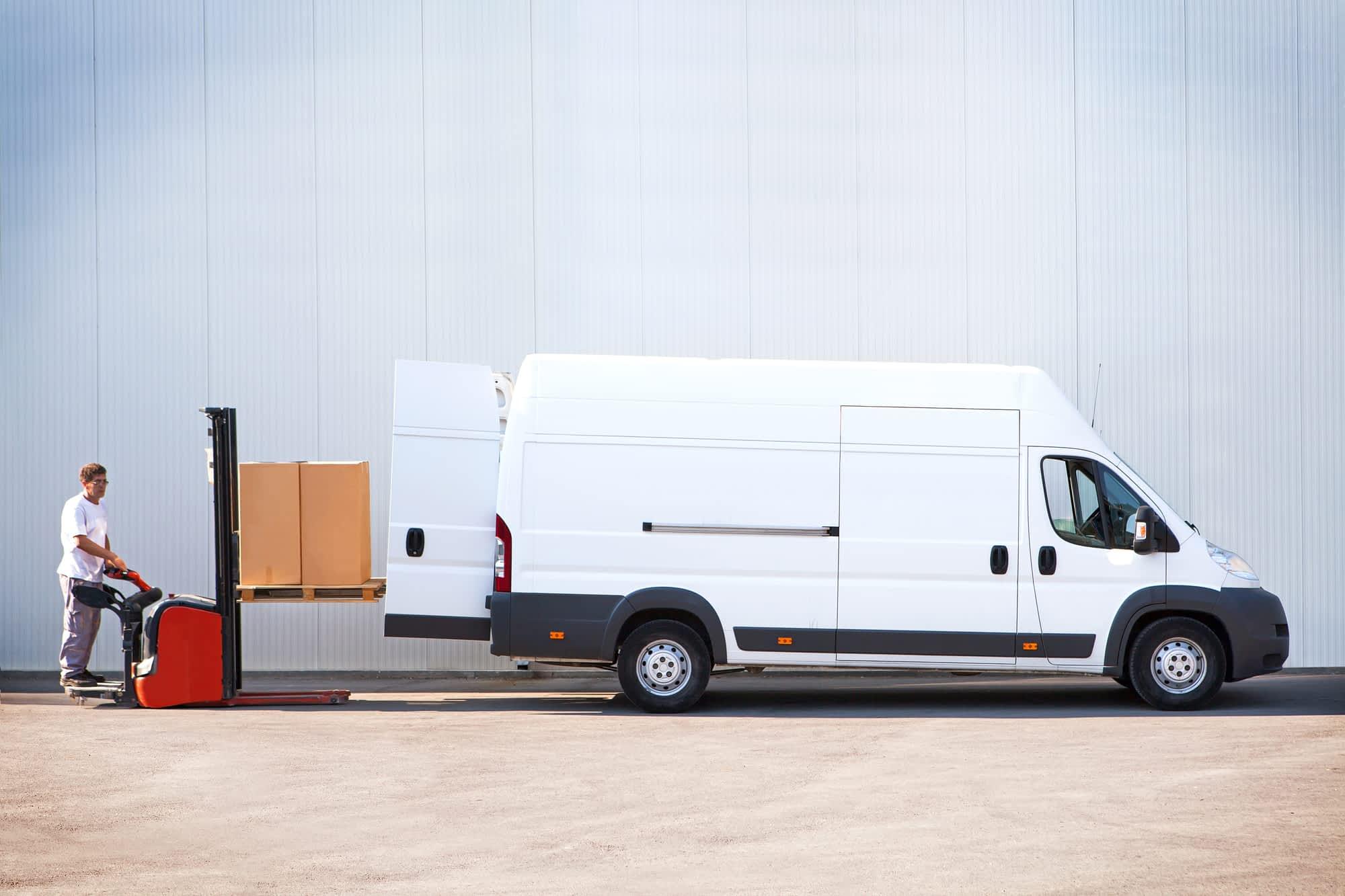 stride couriers loading van