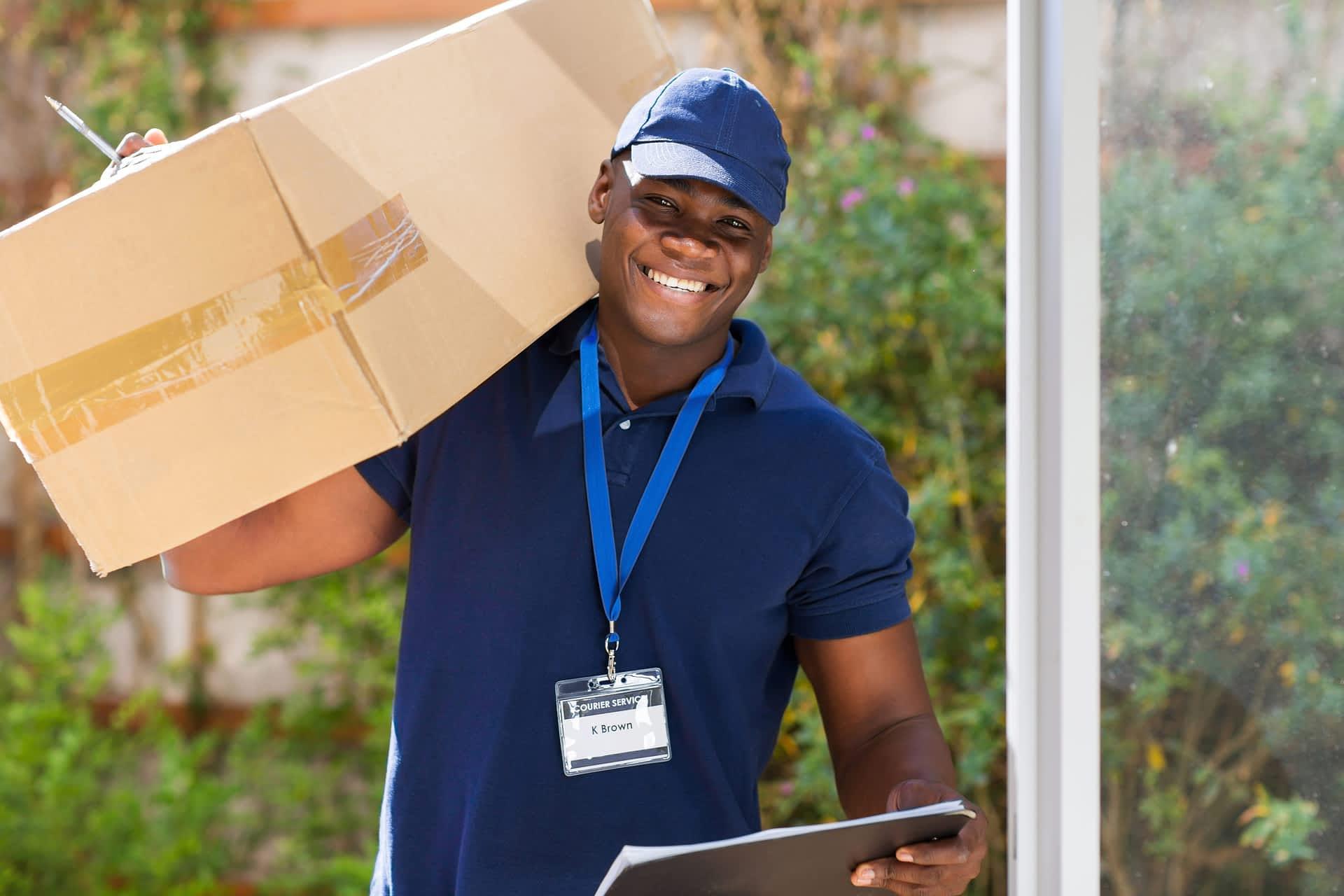 man making a deliver